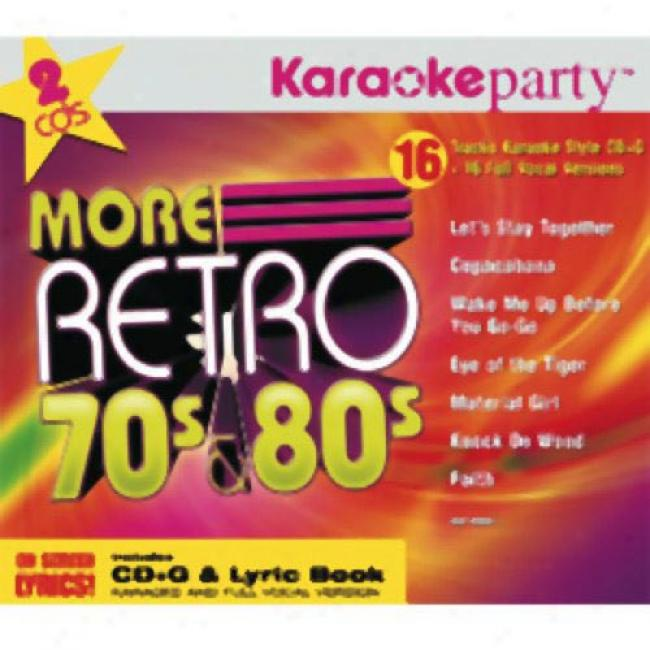 Karaokeparty: More Retro 70's & 80's (2cd) (digi-pak)