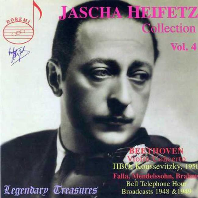 Legendary Treasures: Jascha Heifetz Collection Vol.4