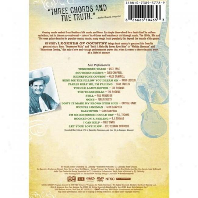 Legends Of Country: Classic Hits Of The '50's, '60's & '80's (music Dvd) (amaray Case)