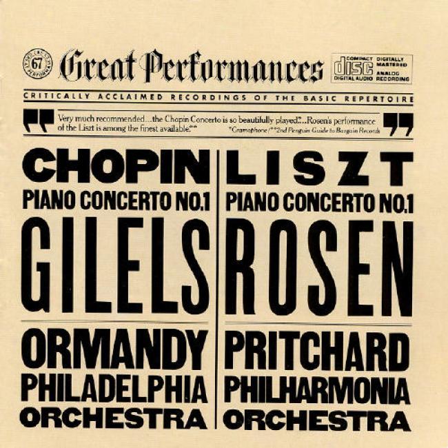 Liszt, Chopin: Piano Concertos No 1/gilels, Rosen
