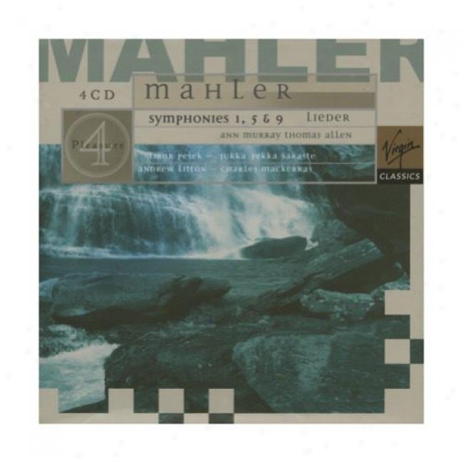 Mahler: Symphonies 1, 5 & 9/lieder (4 Disc Box Set)