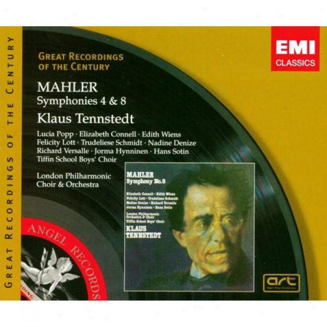Mahler: Symphonies 4 & 8 (2 Disc Box Set) (remaster)