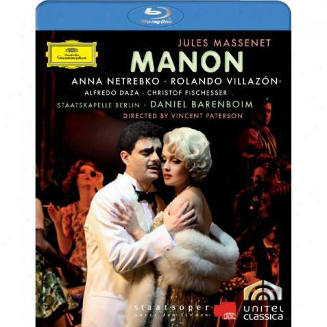 Massenet: Manon (music Blu-ray) (bd Amaray Case)
