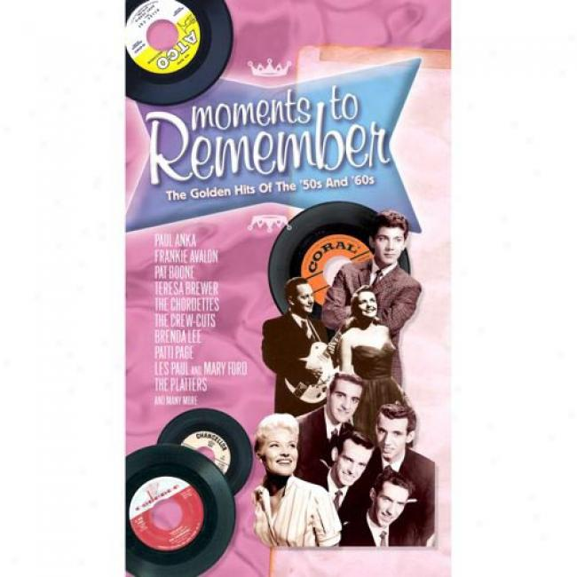 Moments To Remember: The Golden Hits Of The '50s And '60s (3 Disc BoxS et) (remaster)