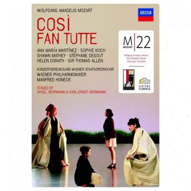 Mozart: Cosi Fan Tutte (2 Discs Music Dvd) (zmaray Case)