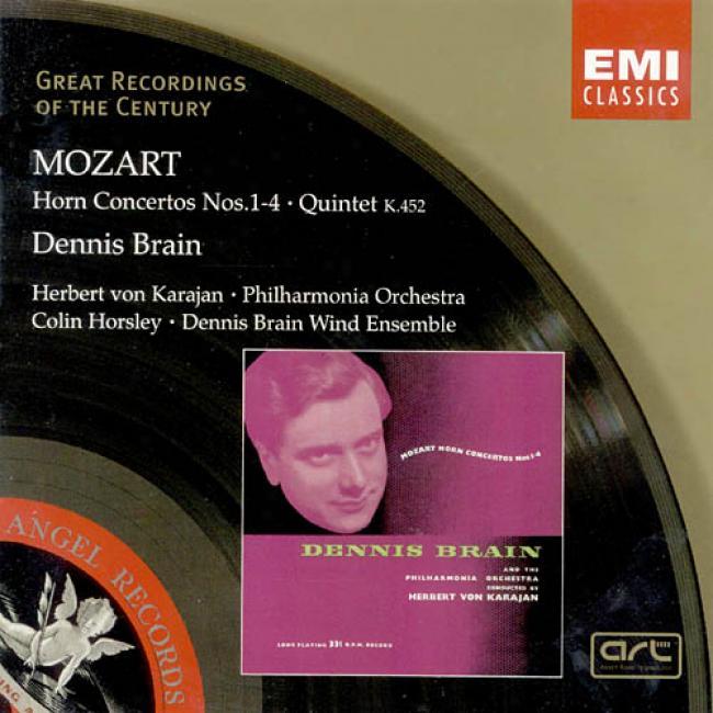 Mozart: Horn Concertos/quintet K.452 (remaster)