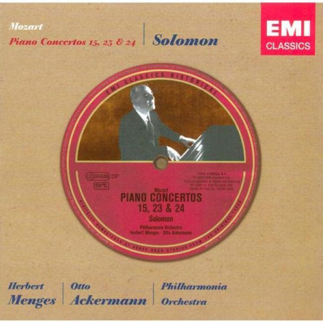 Mozart: Piano Concertos 15, 23 & 24 (remaster)