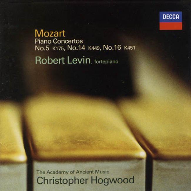 Mozart: Piano Concertos K.175/382, K.451 & K.449