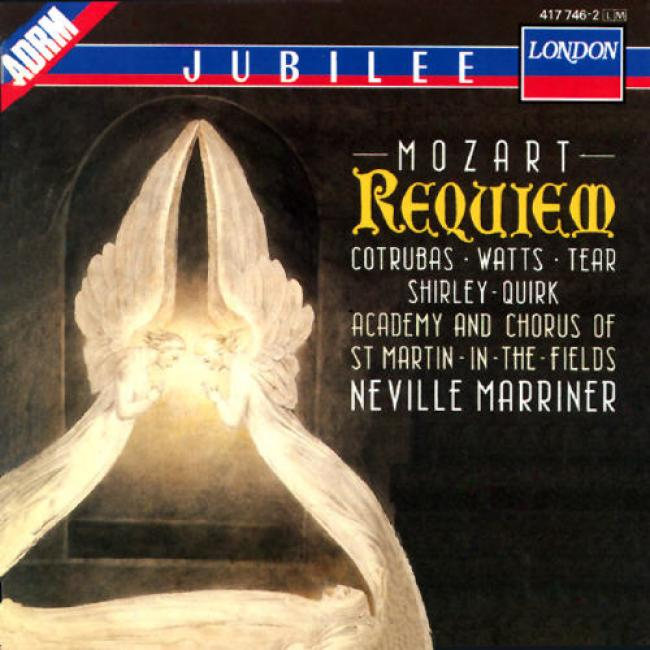 Mozart: Requiem/marriner, Cotrubas, Watts, Tear, Et Al