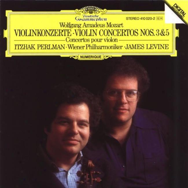 Mozart: Violin Concertos Nos 3 And 5/perlman, Levine