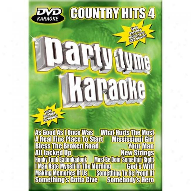 Party Tyme Karaoke: Country Hits 4 (music Dvd) (amaray Case)