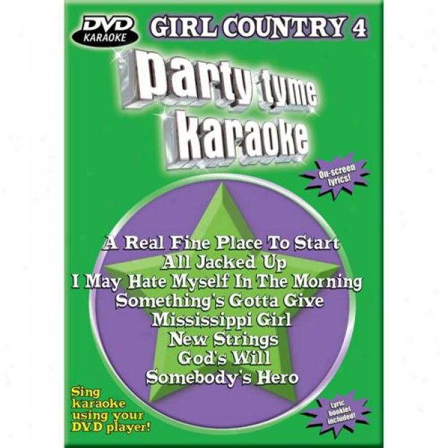 Party Tyme Karaoke: Girl Country 4 (music Dvd) (amaray Case)