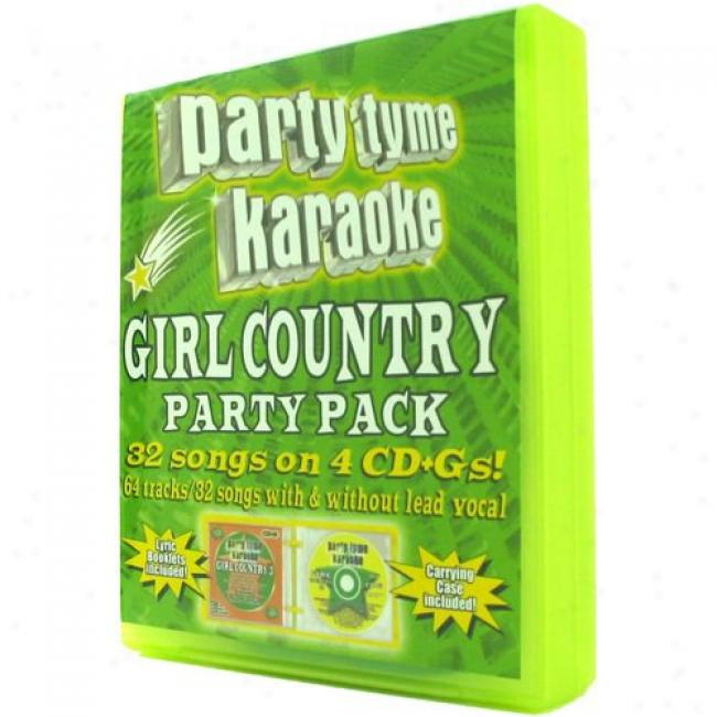 Party Tyme Karaoke: Giro Country Party (4 Disc Box Set)