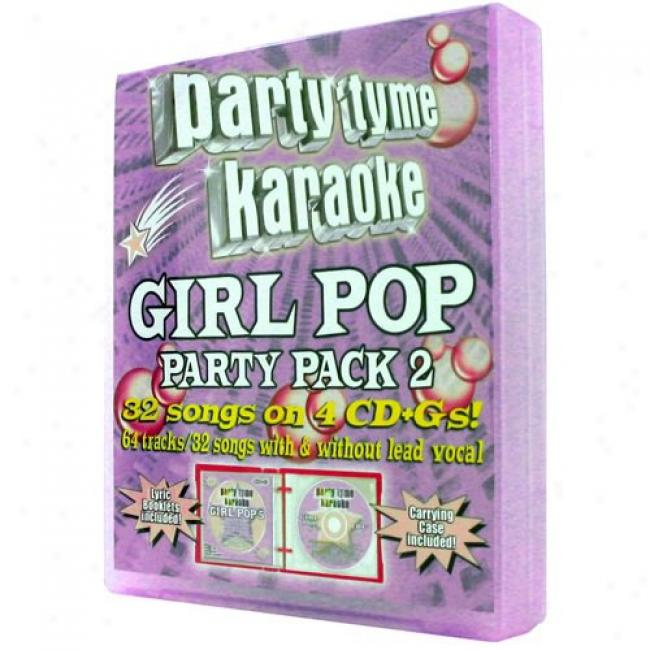 Partu Tyme Karaoke: Girl Pop Party Pack 2 (4 Disc Box Set)