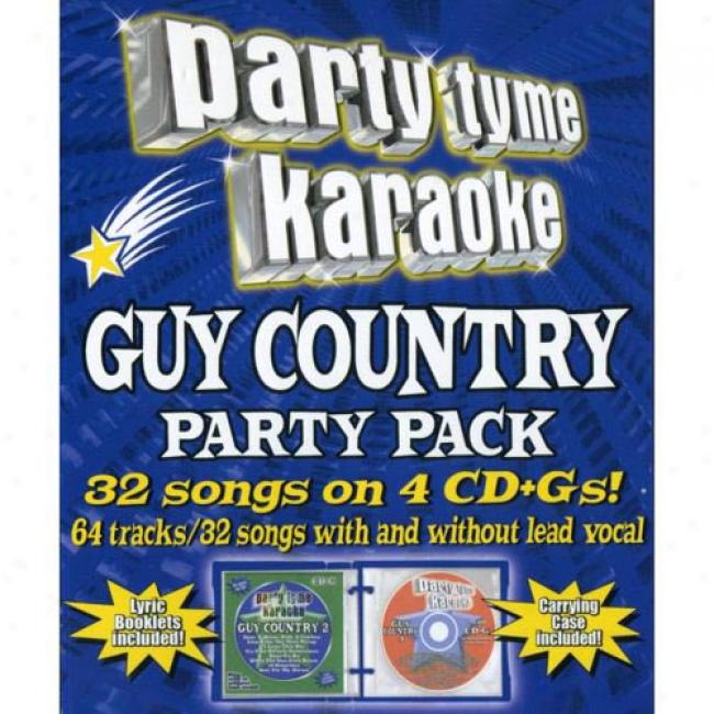 Party Tyme Karaoke: Guy Country Party Pack (4cd)