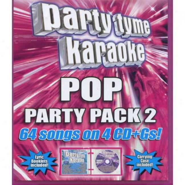 Party Tyme Karaoke: Pop Party Pack, Vol.2 (4 Disc Box Set)