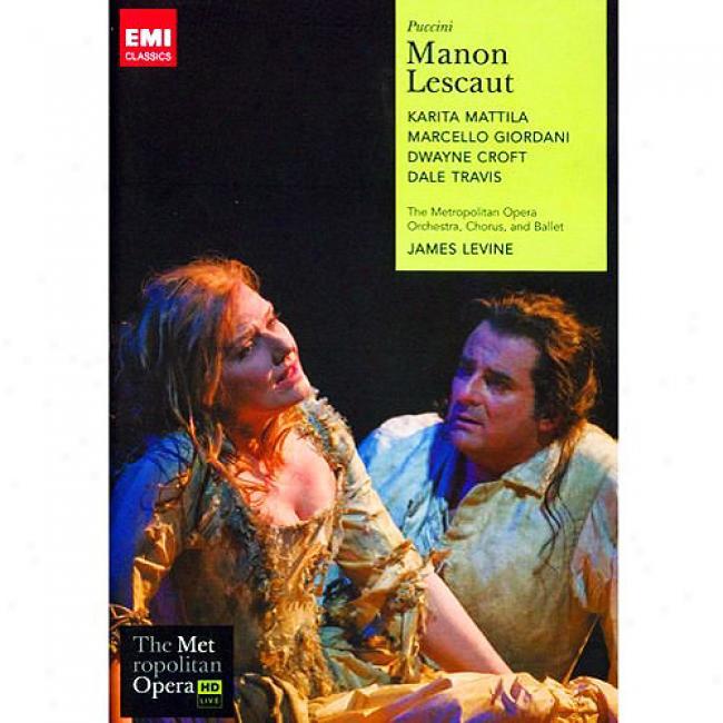 Puccini: Manon Lescaut (music Dvd) (amaray Case)