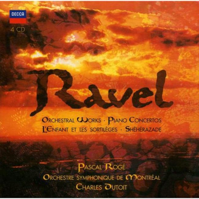 Ravel: Orchestral Works/piano Concertos, Etc... (4 Disc Box Set)