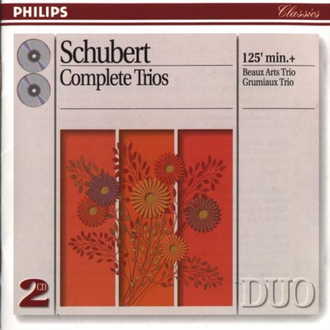 Schubert: Complte Trios/beaux Arts Trio, Grumiaux Trio