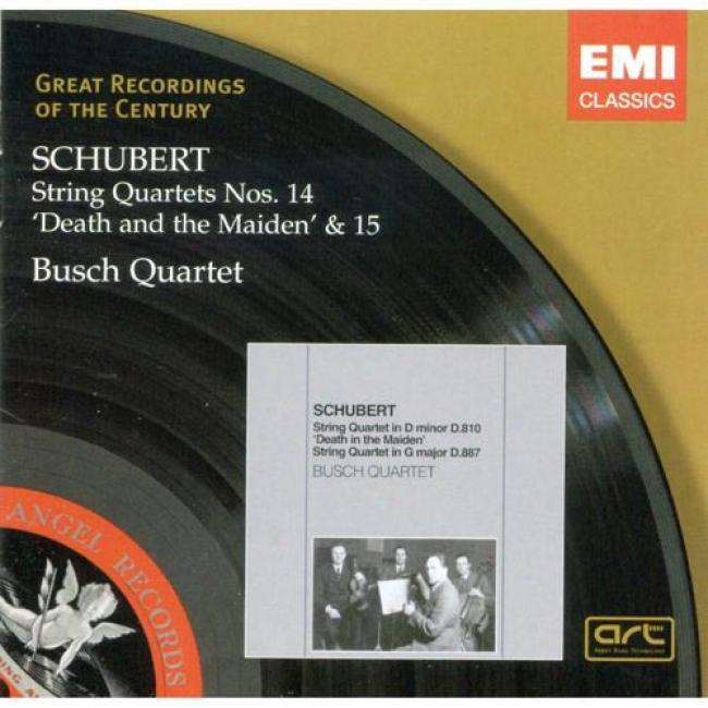 Schubert: String Quartets Nos.14 & 15 (remaster)