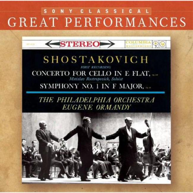 Shostakovich: Symphony No.1/cell Concerto No.1