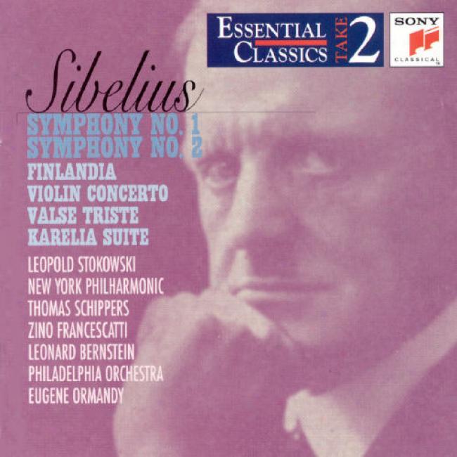 Sibelius: Symphony Ni.1 And Symphony No.2 Finlandia/violin Conceerto/valse Triste/karella Suite