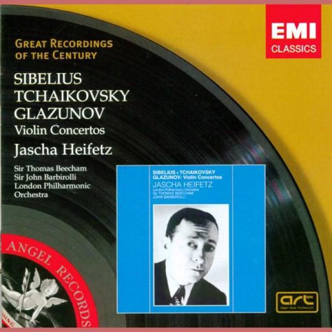 Sibelius/tchaikovsky/glazunov: Fiddle Concertos (remaster)