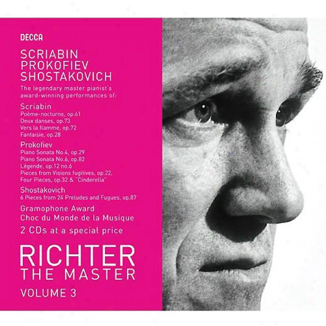 The Master: Scriabin/prokofiev/shostakovich, Vol.3 (2cd)