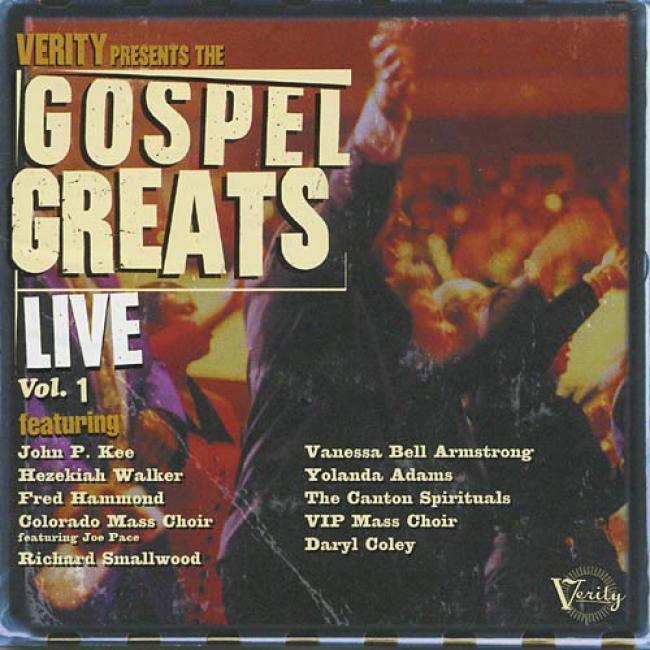 Verity Presents The Gospel Greats Live, Vol.1 (remaster)