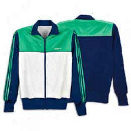 Adidas Men's Color Block Fabric Mix Track Jacket