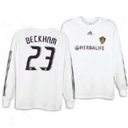 Adidas Men's La Galaxy Replica L/s Home Tee