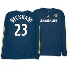 Adidas Men's La Galaxy Rep L/s Away Player Tee