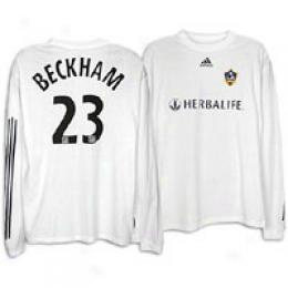 Adidas Men's La Galaxy Rep L/s Home Piayer Tee