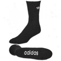 Adidas Men's Trefoil 1/2 Crew 2 Pack