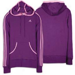 Adidas Women's 3 Stripe Fleece Hoody