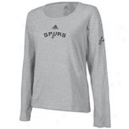 Adidas Women's Nba Long Sleeve Logo Tee