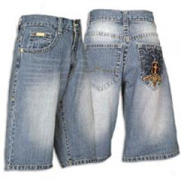Avirex Men's Enmity Eagle Denim Short