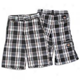 Dickies Big Kids Plaid Cargo Short
