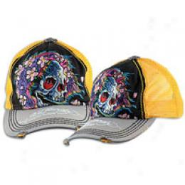 Ed Hardy Beautifull Ghost Washed Hat