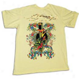 Ed Hardy Men's Impale Dragon And Petals Tee