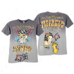 Ed Hardy Men's Los Angeles S/s Dip Dye Tee