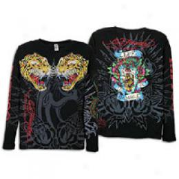 Ed Hrdy Men's L/s Specialty Fold Tiger Tee
