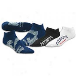 For Bare Feet Men's Nfl3 pk Distressed Socks