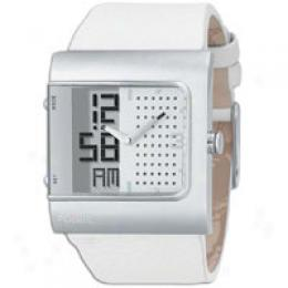 Fossil Men's Anadigi White Dial Watch
