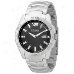 Fossil Men's Analog Glitz Black Dial Watch