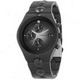 Fossil Mn's Bk I.p. Multifunction Watch