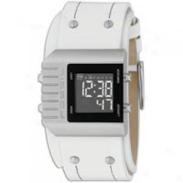 Fossil Men's Digital White Dial Watch