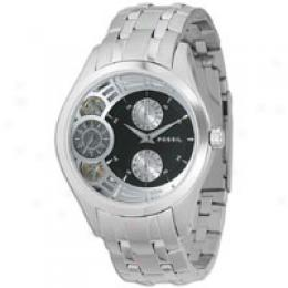 Fossil Men's Involuntary Black Dial Watch