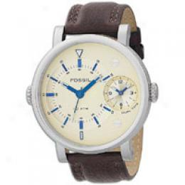 Fossil Men's Multifunction Champagne Dial Watch