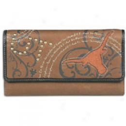 Fossil Women's Ncaa Letterman Flp Clutch Wallet